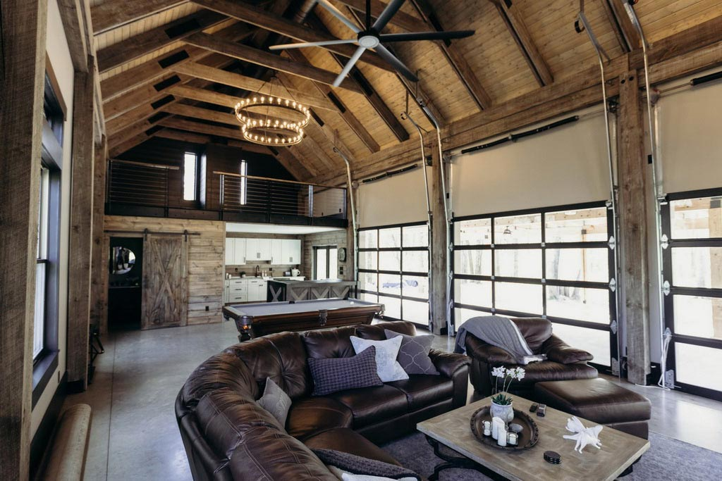 exposed barn ceiling idea
