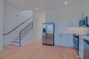 interior kichen stainless hardwood