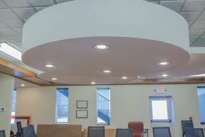 White tile Circular Large Lighting Commercial Photo